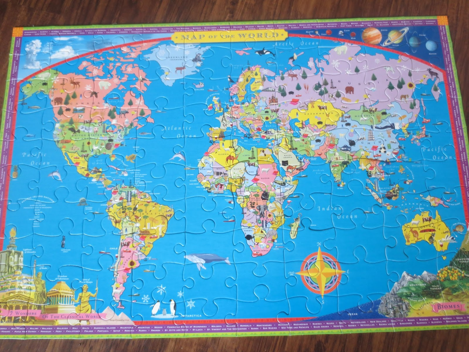 How to learn the countries of the world play eat grow world map 100 piece puzzle gumiabroncs Choice Image