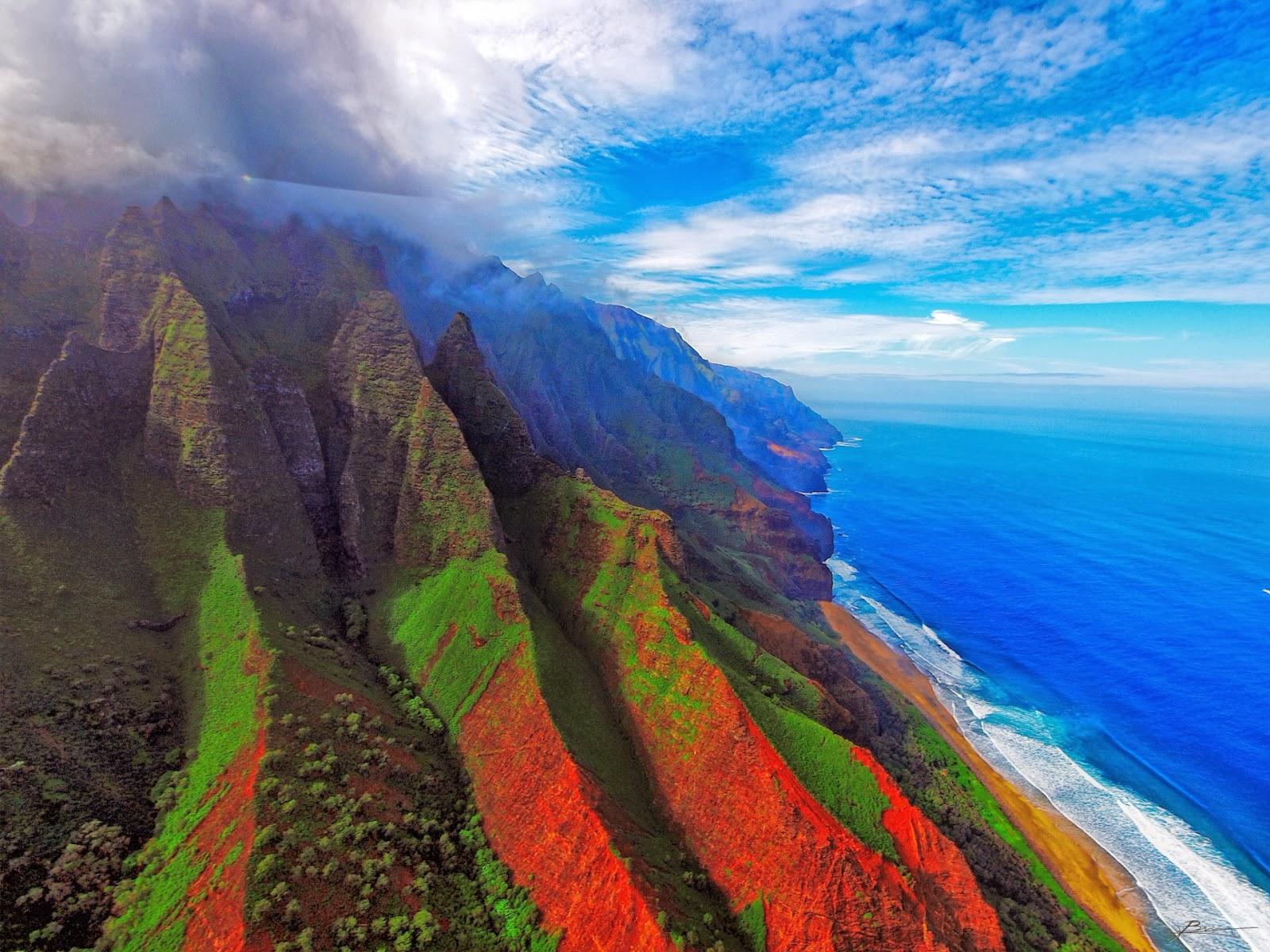 Mujeres Música Katy Perry Cabello Azul Desgaste Cantantes: Montañas A La Orilla De Playa