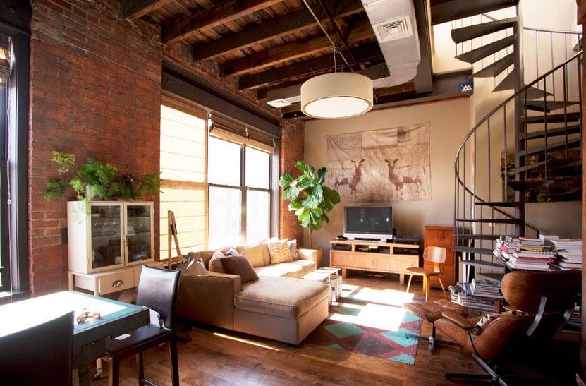 Дизайн интерьера loft