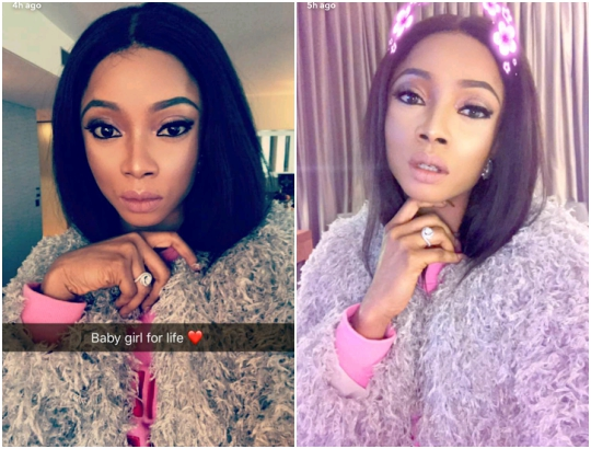 Toke Makinwa Shows Off Expensive Diamond Ring [Photos]