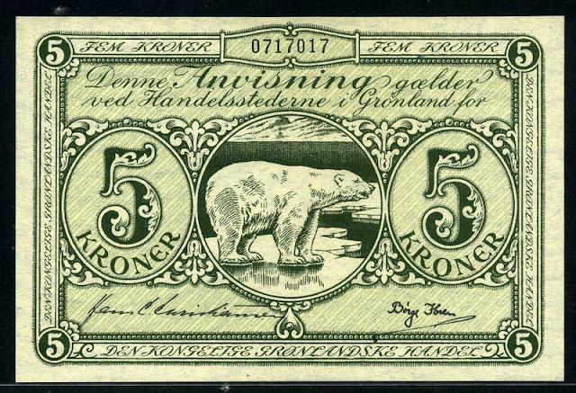 world money Greenland krone banknotes