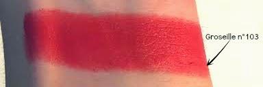 Rouge à lèvres Boho Green 103 - Groseille