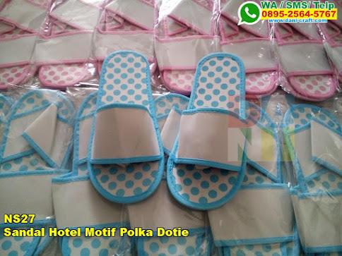 Harga Sandal Hotel Motif Polka Dotie