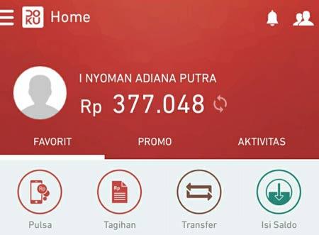 Tampilan Aplikasi Doku Wallet