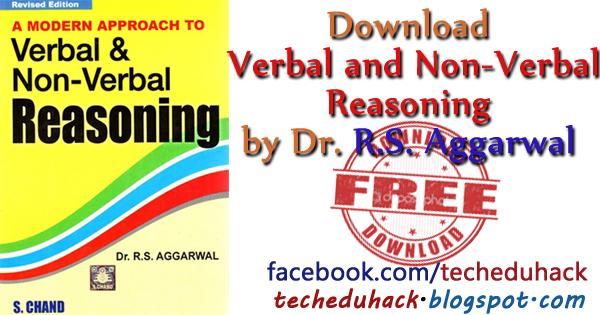 RS Aggarwal Verbal and Non-Verbal Reasoning Pdf Download