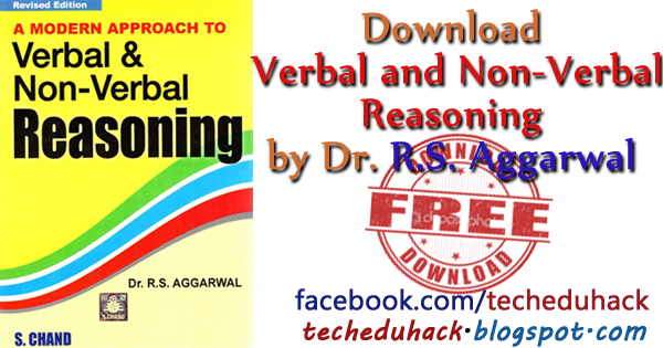 verbal and non verbal reasoning by RS Aggarwal free download