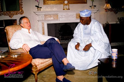 tony blair obasanjo in london