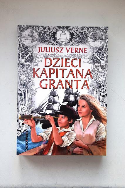 """Recenzje #97 - """"Dzieci kapitana Granta"""" - okładka książki pt. """"Dzieci kapitana Granta"""" - Francuski przy kawie"""