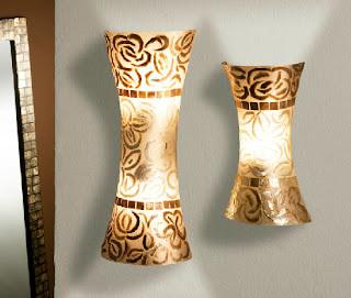 apliques lampara de pared en nacar