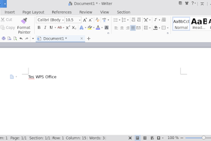 Install WPS Office di Linux Fedora 27 Workstation