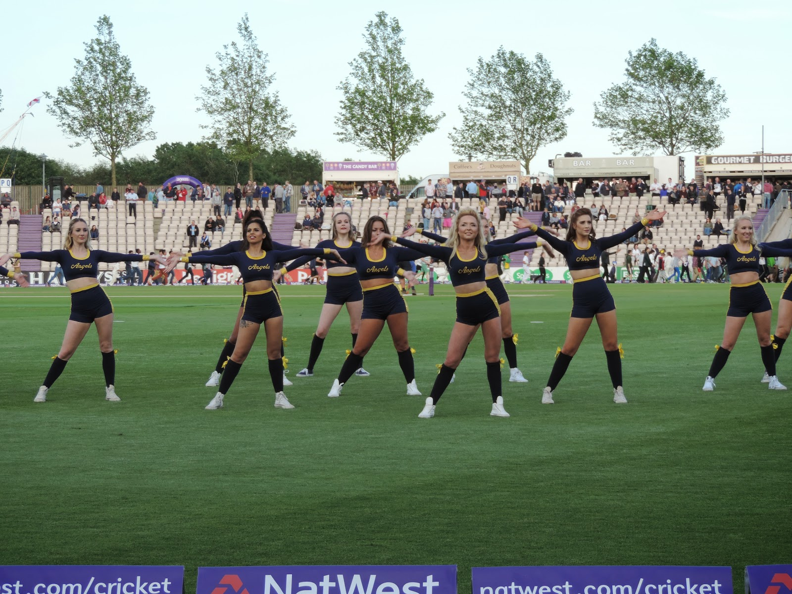 ageas bowl cheerleader girls natwest blast t20 eastleigh