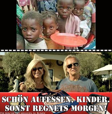 Lustiges Bild mit Spruch Arme und Reiche Menschen