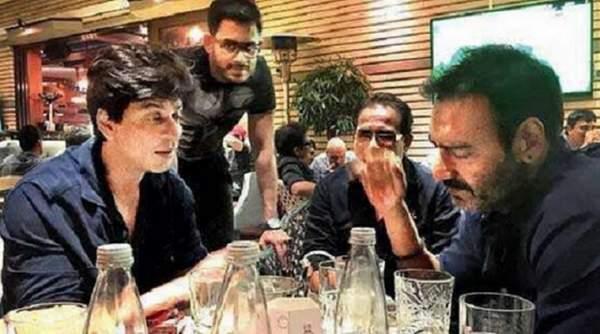 shahrukh khan and ajay devgan fight