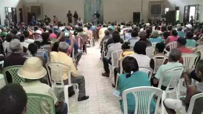 Prefeito Fábio Gentil anuncia obras durante a assembleia do Sindicato dos Trabalhadores Rurais