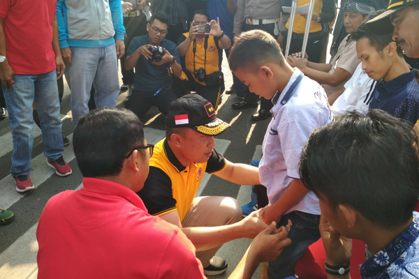 Polda Jabar Berikan Tangan Dan Kaki Palsu Kepada Korban Kecelakaan