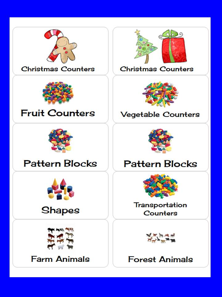 A Teacher\u0027s Touch Labels for Math Manipulatives - free christmas return address labels template