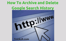 How to archive and delete google search history