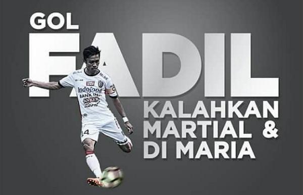 [VIDEO] KELAS! Gol Indah Fadil Sausu Kalahkan Anthony Martial dan Di Maria Versi ESPN