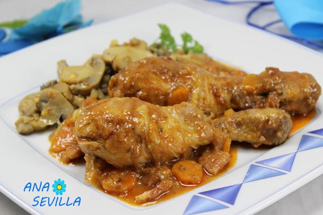 Pollo a la buena mujer Ana Sevilla cocina tradicional
