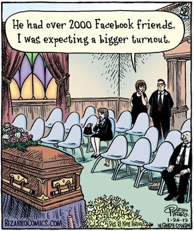 Hilarious Social Facebook Friends Funeral Image
