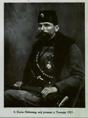 Kosta Pecanac, leader of the revolt in Toplica 1917