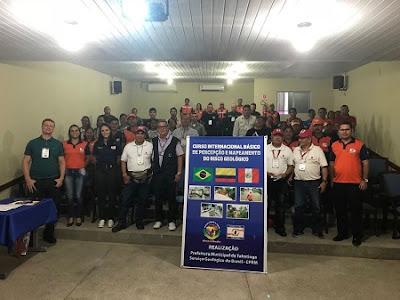 Serviço Geológico do Brasil promove 1º Curso Internacional Básico de Percepção e Mapeamento de Risco Geológico