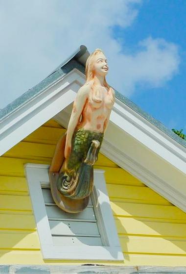Mermaid Bow Maiden Exterior House Decor Figure Head Idea