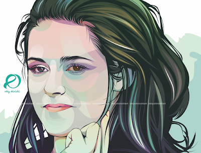 Kristen Stewart on ROck Art Osa