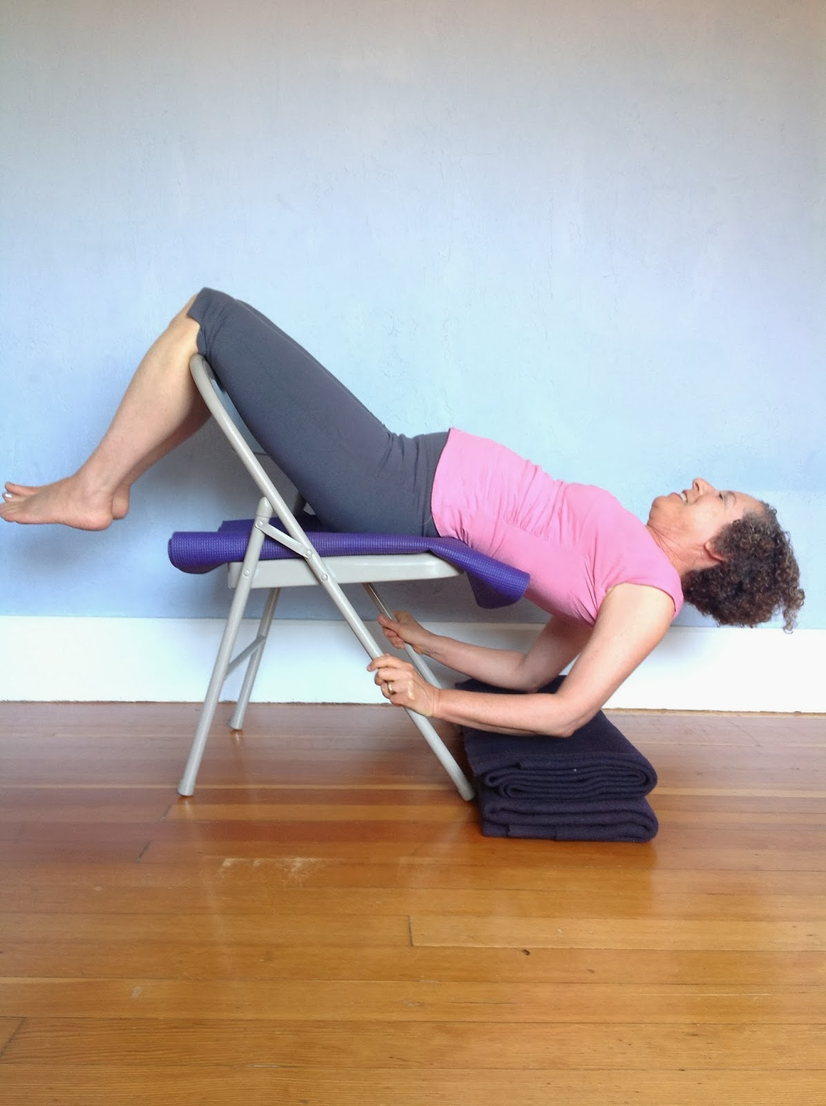 yoga swing chair infinity iyashi massage featured pose shoulderstand