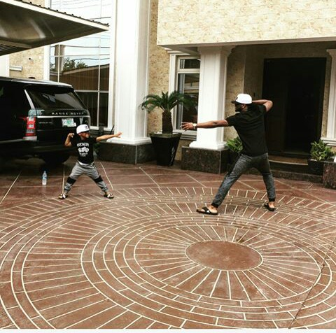 Paul okoye playing with andre