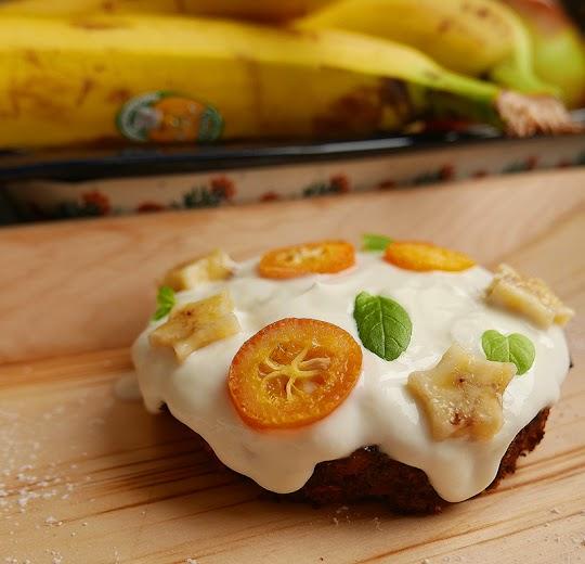 Bananowa pieczona owsianka
