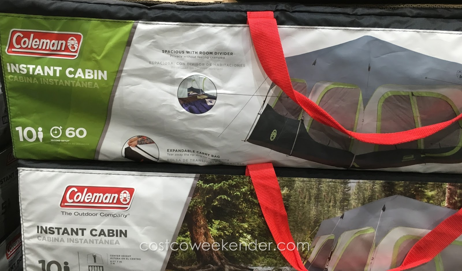 Go c&ing with the Coleman 10-Person Instant Cabin Tent & Coleman 10-Person Instant Cabin Tent | Costco Weekender