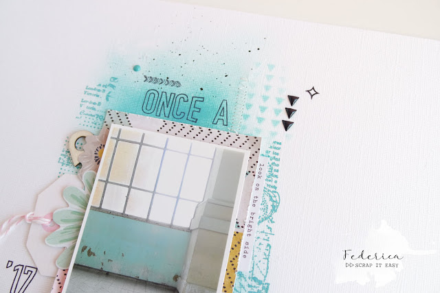 scrapbook layout | once a week by kushi per Scrap It Easy www.kkushi.com