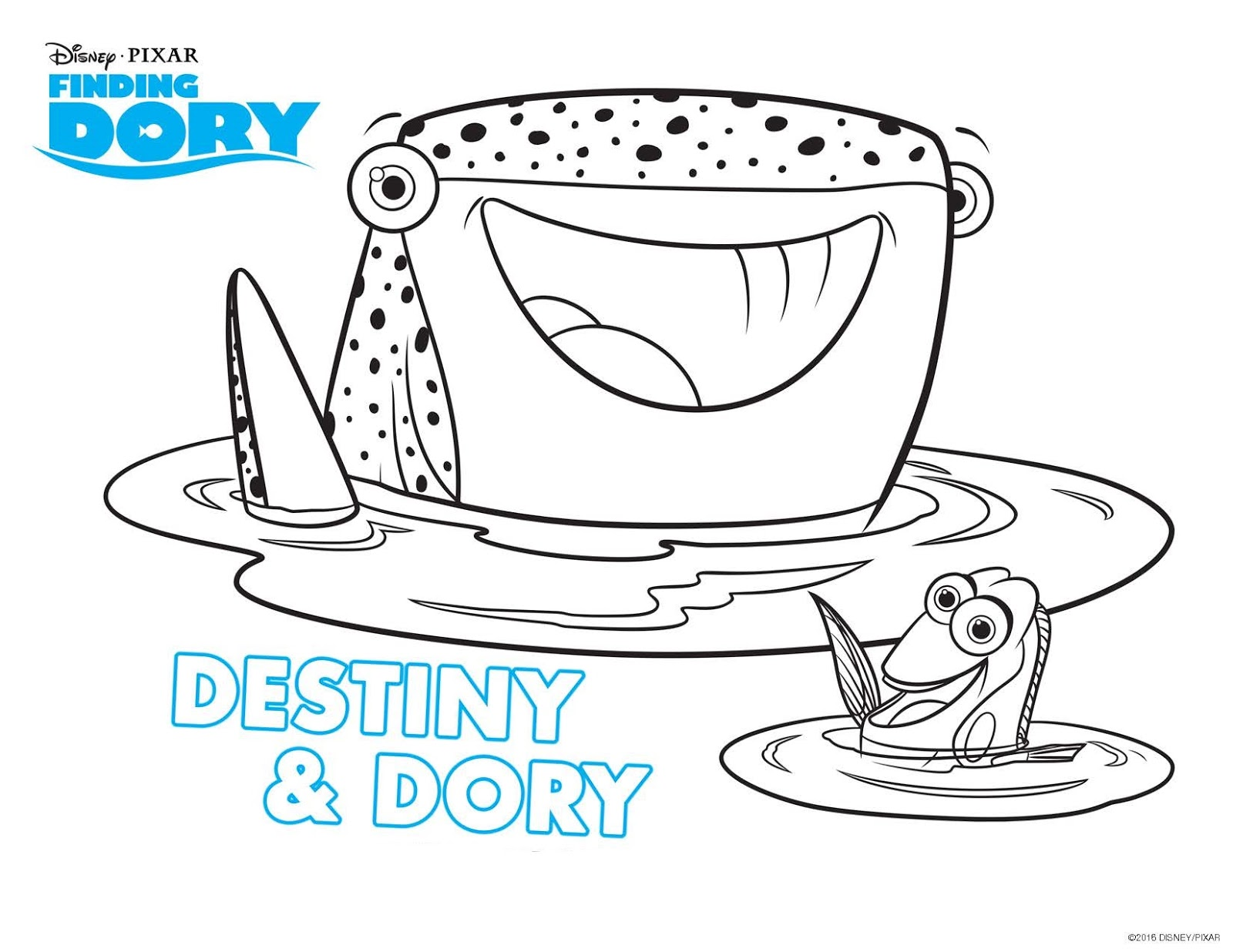 Coloring pages for dory - Dory Finding Dory Nemo Bailey Hank Color Hank Color Dory