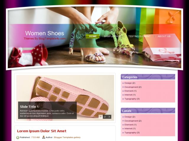 Woman Shoes Blogger Template