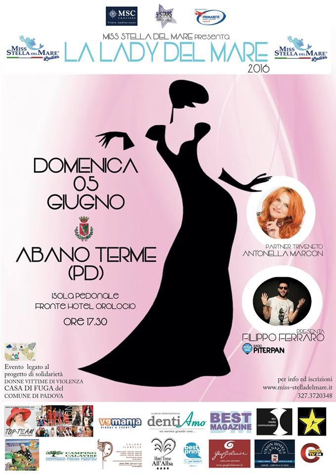 Calendario Manifestazioni Abano Terme.Prima Tappa Ad Abano Terme Per La Lady Del Mare Italy Eventi