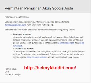 Cara mengembalikan akun google yang dihack1
