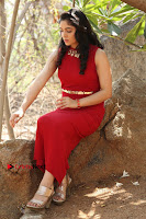 Telugu Actress Zahida Sam Latest Pos in Red Gown at RF Films New Movie Opening  0345.JPG