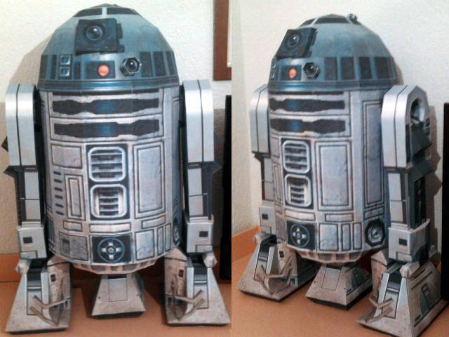 life size papercraft r2 d2. Black Bedroom Furniture Sets. Home Design Ideas