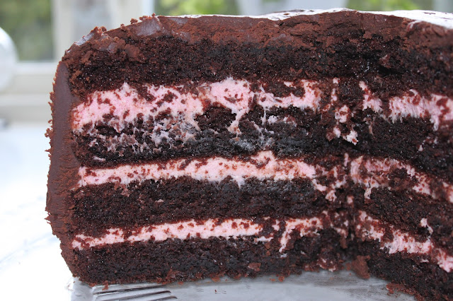 chokladtårtor med fyllning