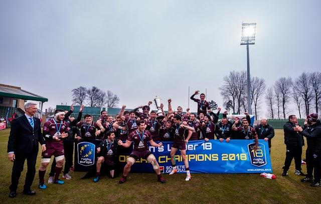 Сборная Грузии по регби до 18 лет стала чемпионом Европы