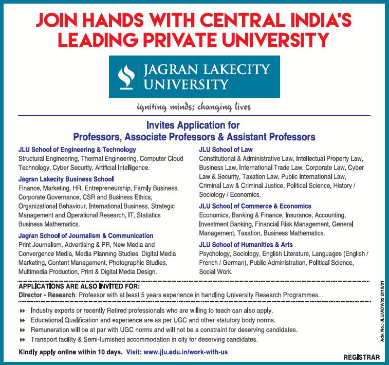Invites Application For Professors Associate Assistant