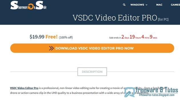 Offre promotionnelle : VSDC Video Editor Pro gratuit !