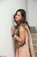Shilpa Chakravarthy in Lovely Designer Pink Saree with Cat Print Pallu 017.JPG