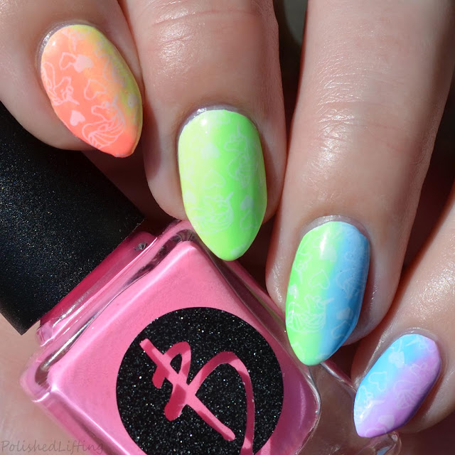 neon unicorn nail art