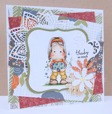 Heather's Hobbie Haven - Tilda with an Armful of Flowers Card Kit