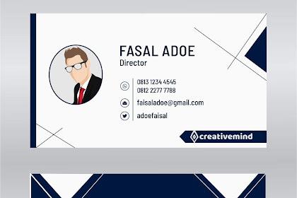 Desain Kartu Nama Modern kreatif, Vektor, Download Gratis