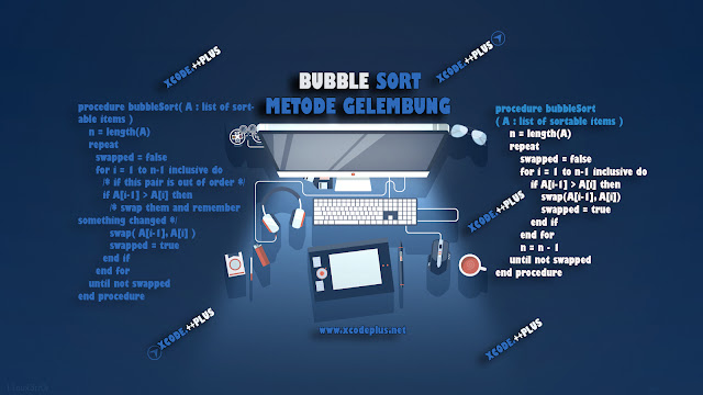 Gambar Bubble sort by www.xcodeplus.net