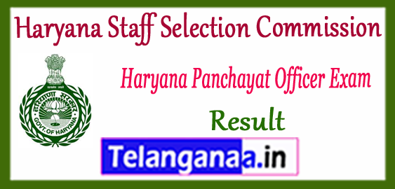 HSSC Haryana Staff Selection Commission SEPO Panchayat Officer Result 2017 Cutoff Merit List
