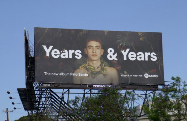 Years and Years Palo Santo Spotify billboard